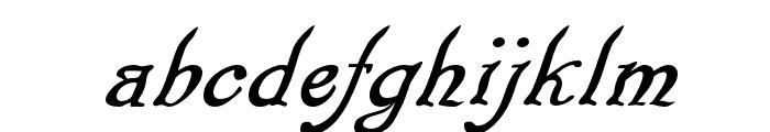 Pugsley Oblique Font LOWERCASE