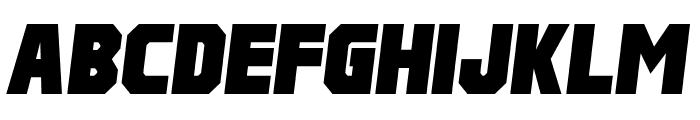 Pulp Fiction M54 Italic Font UPPERCASE