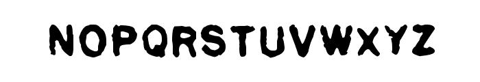 Pulp plain Font UPPERCASE