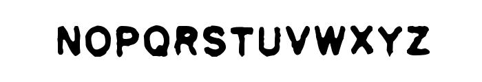 Pulp plain Font LOWERCASE