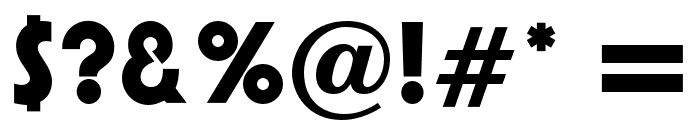 PumpOpti-DemiBold Font OTHER CHARS