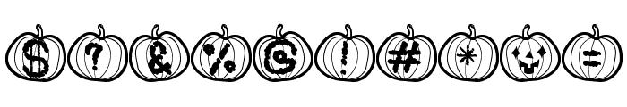 Pumpkin Halloween St Font OTHER CHARS