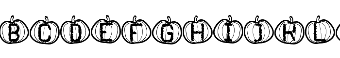 Pumpkin Halloween St Font UPPERCASE