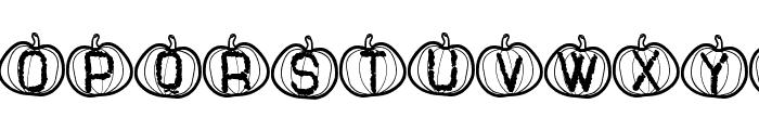Pumpkin Halloween St Font LOWERCASE