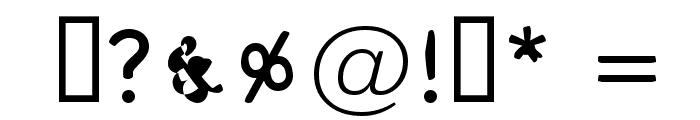 Pungen Font OTHER CHARS
