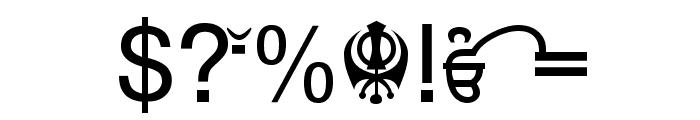 Punjabi  Bold Font OTHER CHARS