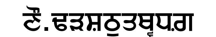 Punjabi  Bold Font UPPERCASE