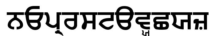 Punjabi  Bold Font LOWERCASE