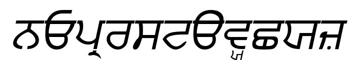Punjabi  Italic Font LOWERCASE
