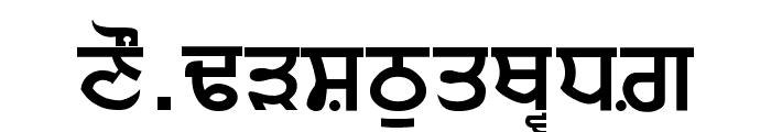 Punjabi Sans Font UPPERCASE