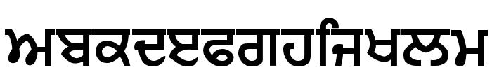 Punjabi Sans Font LOWERCASE