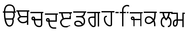 Punjabi Typewriter Old Font LOWERCASE