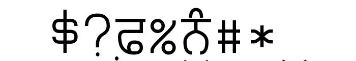 Punjabi Typewriter Font OTHER CHARS