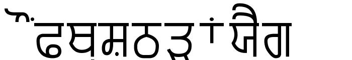 Punjabi Typewriter Font UPPERCASE
