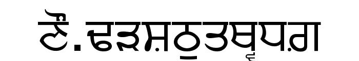 Punjabi Font UPPERCASE