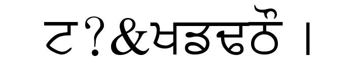 PunjabiText Font OTHER CHARS