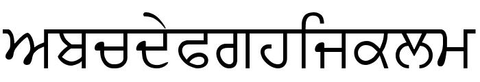 PunjabiText Font LOWERCASE