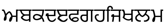 Punjabi Font LOWERCASE