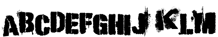 Punk Kid Font UPPERCASE