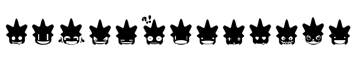 Punk Smileys Font UPPERCASE