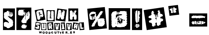 Punk Survival Font OTHER CHARS