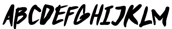 Punkboy Bold Italic Font UPPERCASE