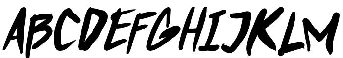 Punkboy Italic Font UPPERCASE