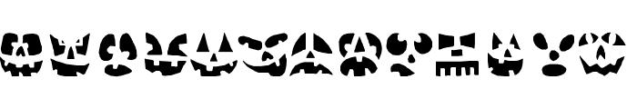 Punkinhead Font UPPERCASE