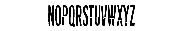 Puolelta toiselle Font UPPERCASE