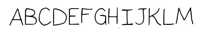 Pupil Light Medium Font UPPERCASE
