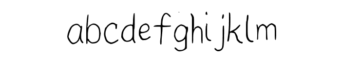 Pupil Light Medium Font LOWERCASE