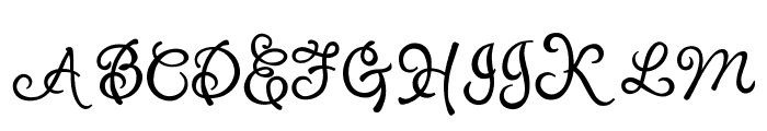 PuppyPooky Font UPPERCASE