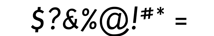 Puritan Italic Font OTHER CHARS