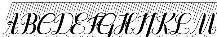 Purple DecoDemo Font UPPERCASE