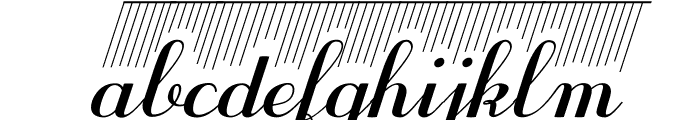 Purple DecoDemo Font LOWERCASE
