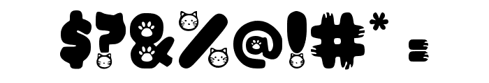 Purrfect Regular Font OTHER CHARS