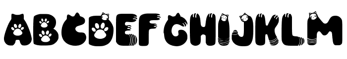 Purrfect Regular Font UPPERCASE