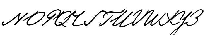 Pushkin Font UPPERCASE