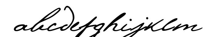 Pushkin Font LOWERCASE