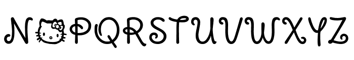 Pussy Cat Font UPPERCASE