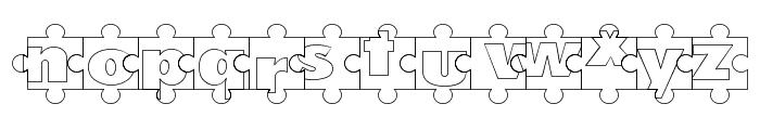 Puzzle Pieces Outline Font LOWERCASE