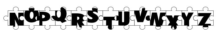 Puzzle Pieces Font UPPERCASE
