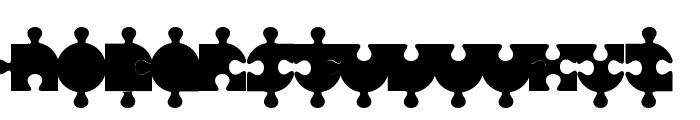 Puzzle Font LOWERCASE