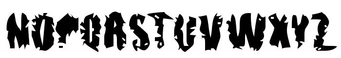 pUNKASSBLEED Font UPPERCASE