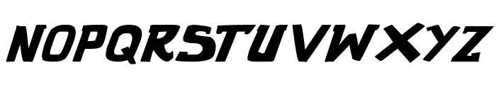 punch it PGS Bold Italic Font LOWERCASE