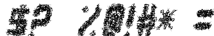 punk not dead tfb Font OTHER CHARS