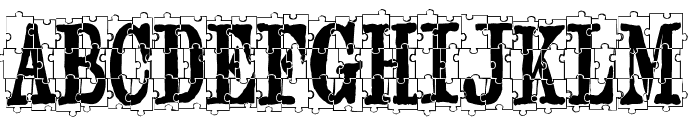 puzzleface Font UPPERCASE