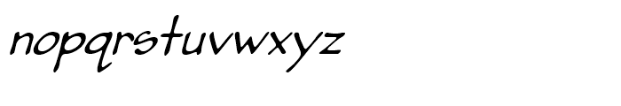 Pumpkinseed Medium Oblique Font LOWERCASE