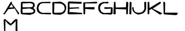 Punavuori Distorted Font UPPERCASE