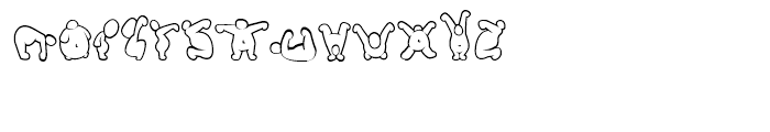 Putty Peeps Regular Font LOWERCASE
